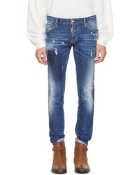 DSQUARED2 Blue Regular Clet Jeans