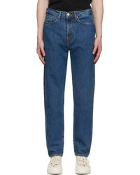 Ps By Paul Smith Blue Tapered Fit Jeans