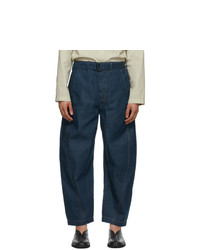 Lemaire Blue Twisted Jeans
