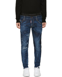 DSQUARED2 Blue Uniform Mixed Jeans