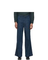 Lemaire Blue Wide Leg Jeans