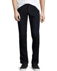 Joe's Jeans Brixton Whiskered Dark Wash Jeans Blue