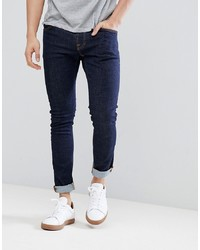 Nudie Jeans Co Tight Terry Twill Jeans In Rinse Blue