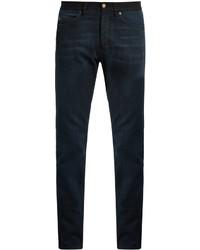 Lanvin Contrast Waistband Slim Leg Jeans