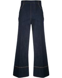 Ermanno Scervino Cropped Wide Leg Jeans