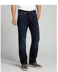 Fresh Dark Blue Stretch Denim Jaimy Straight Leg Jeans