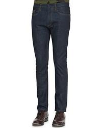Valentino Dark Clean Washed Denim Jeans Indigo