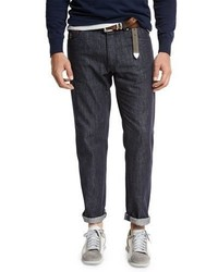 Brunello Cucinelli Dark Wash Denim Jeans Dark Blue