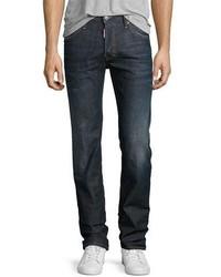 DSQUARED2 Dean Straight Leg Jeans Dark Movet