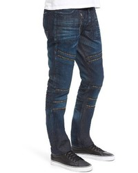 PRPS Demon Slim Straight Leg Moto Jeans