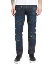 PRPS Demon Slim Straight Leg Moto Jeans