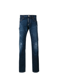Philipp Plein Distressed Straight Leg Jeans