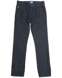 Fay Herringbone Flocked Denim Jeans