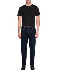 Stefano Ricci Five Pocket Slim Fit Denim Jeans Blue