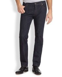 Salvatore Ferragamo Five Pocket Straight Leg Jeans