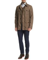 Ermenegildo Zegna Five Pocket Stretch Cotton Denim Jeans Medium Indigo