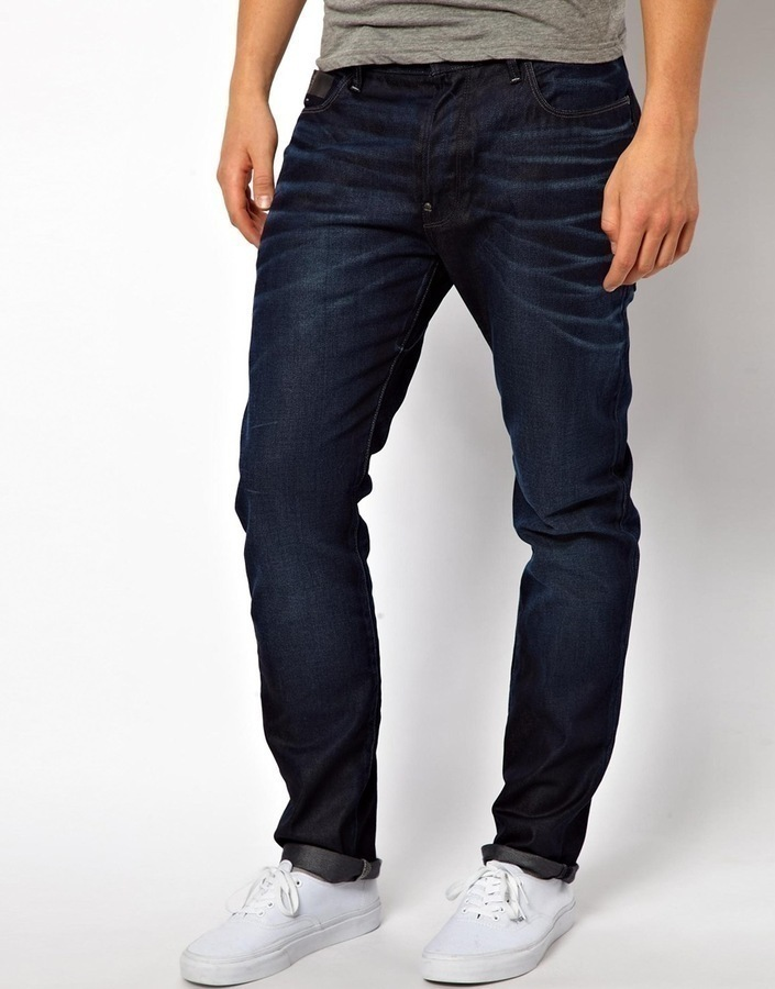 G Star Jeans Blades Tapered Cinch Back Dark Aged
