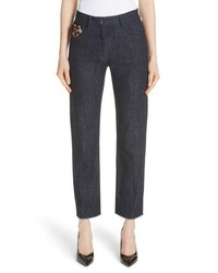 Michael Kors Genuine Calf Hair Pocket Straight Leg Jeans