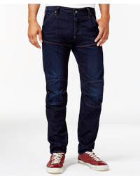 G Star Gstar Tapered Fit Jeans Dark Aged Blue Wash