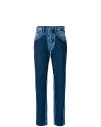 Maison Margiela High Waist Contrast Jeans