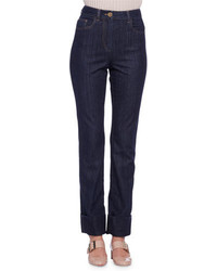 Lanvin High Waist Narrow Leg Jeans Denim