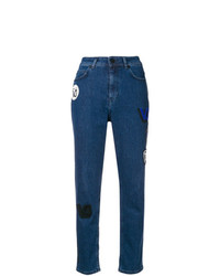 Versace Jeans High Waisted Patch Jeans