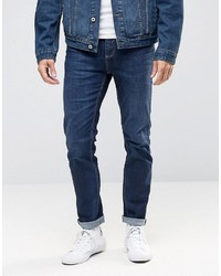 Selected Homme Dark Wash Jeans With Stretch In Slim Fit