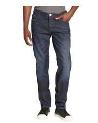 Burberry Indigo Distressed Cotton Button Fly Jeans