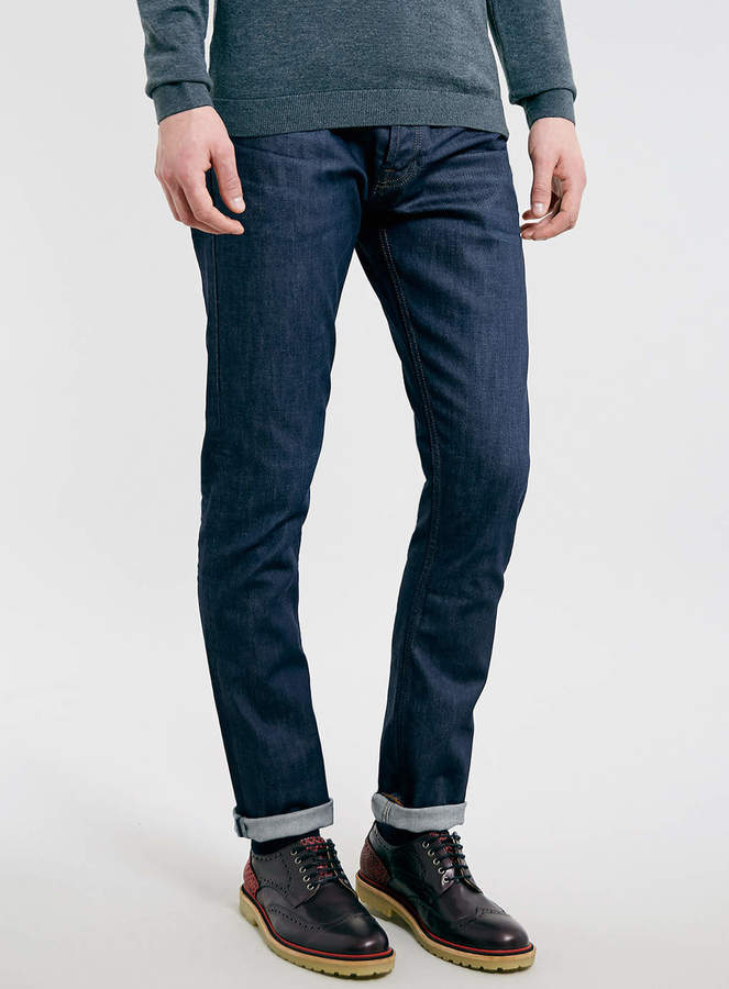 c7d3c3541dee Topman Indigo Resin Coated Stretch Slim Jeans, $76 | Topman ...