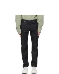 Jil Sander Indigo Rinsed Raw Denim Slim Jeans