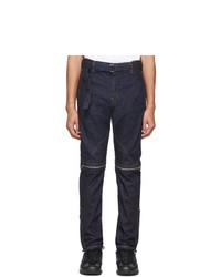 Sacai Indigo Zip Detail Jeans