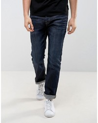 Jack & Jones Intelligence Dark Wash Jeans In Regular Fit