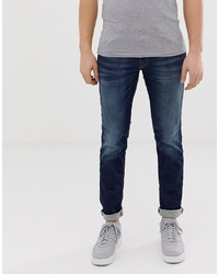 Jack & Jones Intelligence Glenn Slim Fit Jeans In Blue Wash