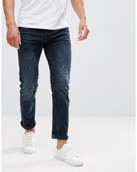 Jack & Jones Intelligence Jeans In Slim Fit Blue Black Denim