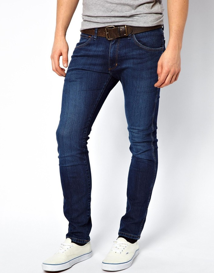 ... Wrangler Jeans Bryson Skinny Fit Brotherly Wash