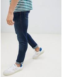 Jack & Jones Jeans In Slim Fit Rinsed Blue Denim Denim