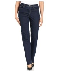 JM Collection Jeans Curvy Fit Straight Leg Sophie Wash