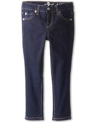 7 For All Mankind Kids Skinny Jean In Rinsed Indigo Girls Jeans