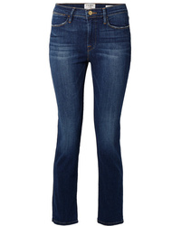 Frame Le High Cropped Straight Leg Jeans