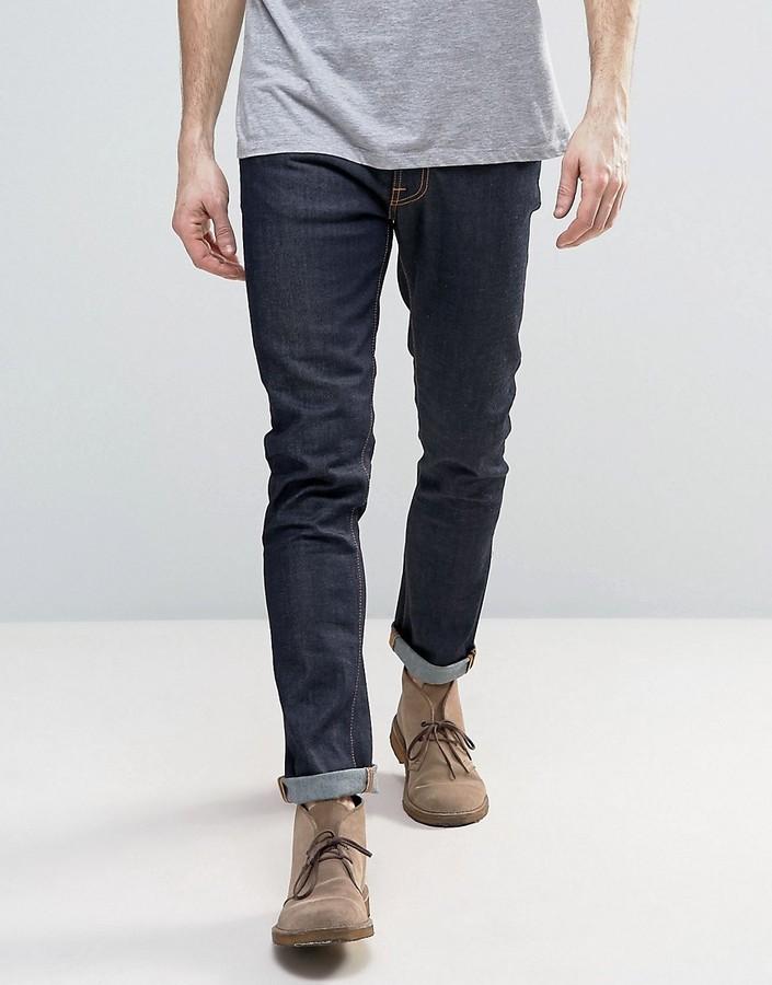0a08961d54f523 Nudie Jeans Lean Dean Slim Tapered Jeans Dry 16 Dips, $141 | Asos ...