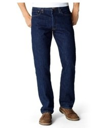 Levi's 501 Original Straight Leg Jeans Rinsed Indigo