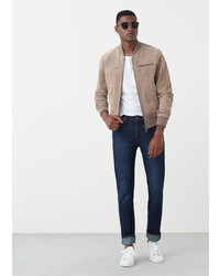 Mango Man Straight Fit Dark Bob Jeans