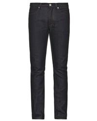 Acne Studios Max Raw Straight Leg Jeans