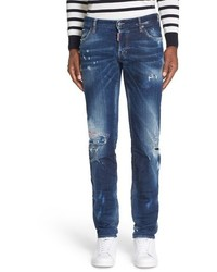 DSQUARED2 Micro Stitch Slim Fit Jeans