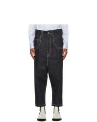 Lanvin Navy Low Crotch Jeans