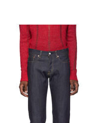 Moussy Vintage Navy Milford Straight Jeans