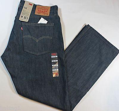 a4c1c78aacc Levi's New Authentic 514 Slim Fit Straight Leg Navy Blue Jeans 6400 ...