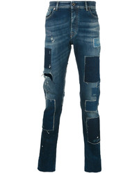 Diesel Black Gold Patch Tapered Jeans
