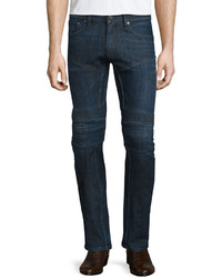 Ralph Lauren Piston Stretch Moto Jeans Indigo