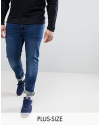 replika Plus Axel Slim Fit Jeans In Stone Wash With Stretch
